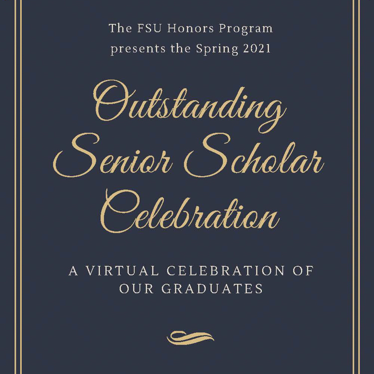 Spring 2021 Outstanding Senior Scholars Program Cover - Linked tile to Student Recognition Page for Outstanding Senior Scholars.